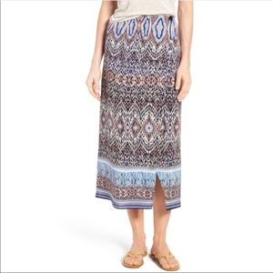 NIC+ZOE Woven Print Midi Skirt